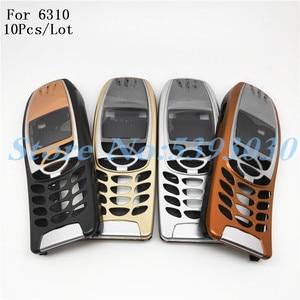 Image 1 - غطاء حماية لجهاز Nokia 6310 ، غطاء بطارية 6310i ، إطار مركزي ، إطار أمامي ، جزء بديل ، بدون لوحة مفاتيح هاتف مع شعار ، 10 قطعة