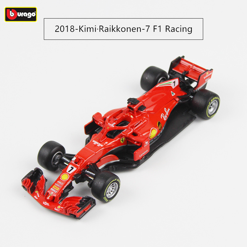 Burago 1:43 Ferrari <font><b>2018</b></font> SF71-H 5 7 Alloy <font><b>F1</b></font> car model die-casting model car simulation car decoration collection gift toy image