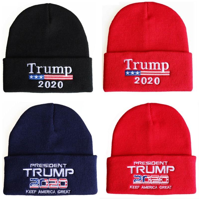 Brand New Unisex Donald Trump 2020 Beanie Hat Make America Great Again Knit Beanie Winter Warm Ski-Cap Dropshipping