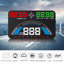 HUD S7 2 in 1 Hud OBD2 + GPS Head Up Display Digital Speedometer Car Speed Projector Digital Windshield Projection(China)