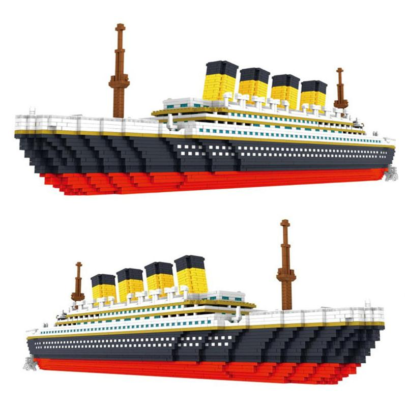 Architecture City Set Landmarks Titanic Ship DIY Small Particle Building Blocks Educational Kids Toys Christmas Birthday Gifts