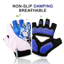 1Pair Cycling Gloves Half Finger Anti-Slip Gel Bicycle Riding Anti Slip For MTB Road Bike Glove Sports Accessories