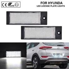 Pair LED license plate lamp LED number plate light for Hyundai Tucson IX35 2015-2018 Kia Forte Sedan 2019-up