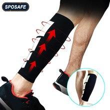 SPOSAFE – manchons anti-douleur pour mollet, Protection UV, tibia, Compression, cyclisme, course, 1 pièces