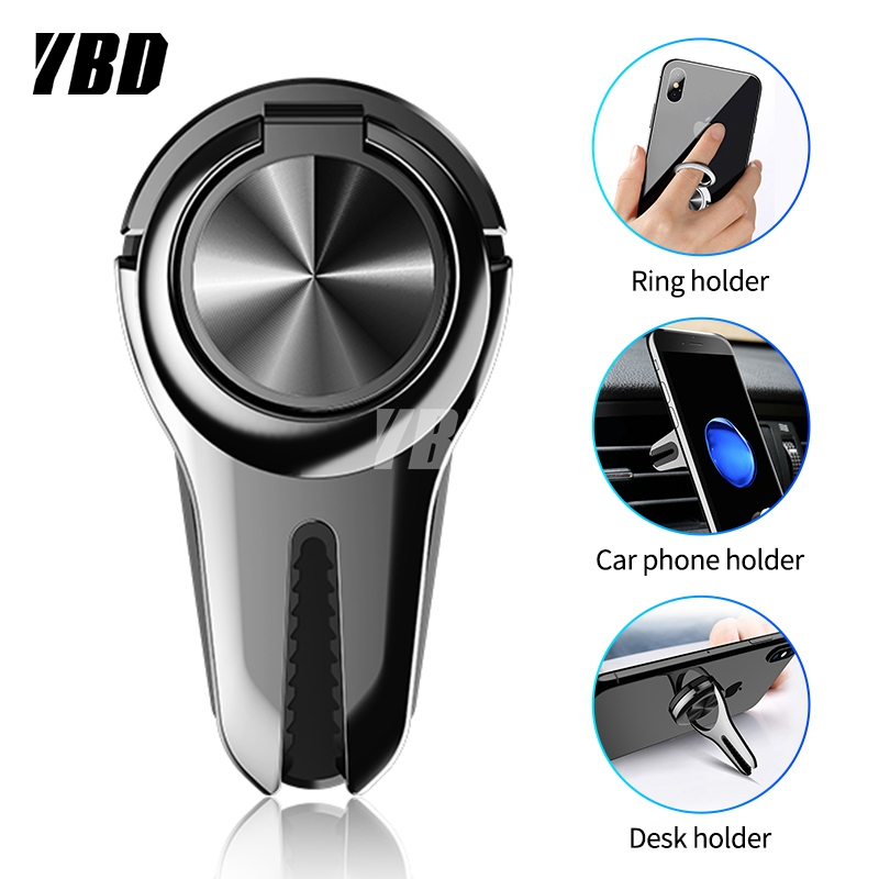 YBD Ring Car Phone Holder Air Vent Mount Mobile Phone Car Holder For Cell Phone Car Mount Holder For Phone In Car Stand Support