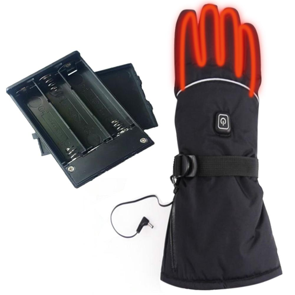 Heated Gloves Electric Winter Warm Gloves 3 Levels Temperature Control Hand Warmer For Skiing Cycling Riding Ski Without Battery