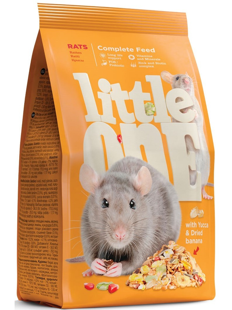 Little One Feed Rats And Mice, Assorted, 900g.