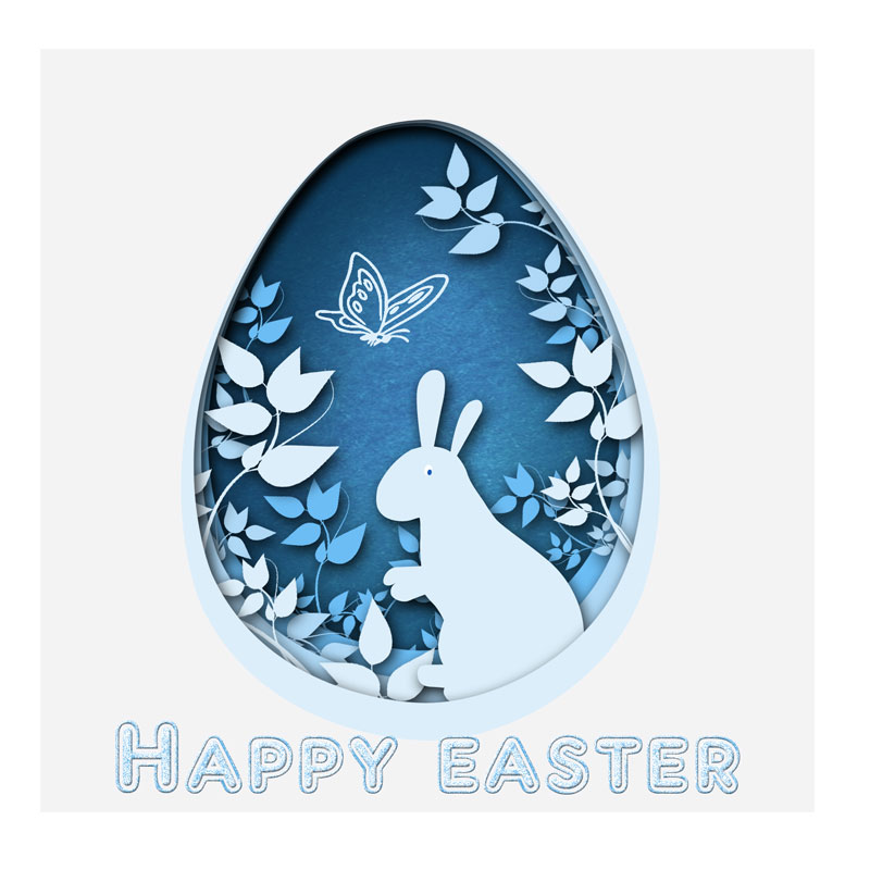 3 Pcs Cutting Stencil Easter Eggs Cutting Dies Scrapbooking Album Card Craft