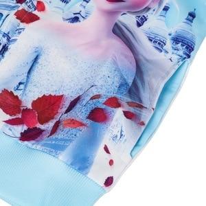 Image 5 - אופנה Elsa אנה מעיל חורף קריקטורה נים בגדי בנות מעילי ברדס רוכסן מעיל תינוק עבור בנות מעיל