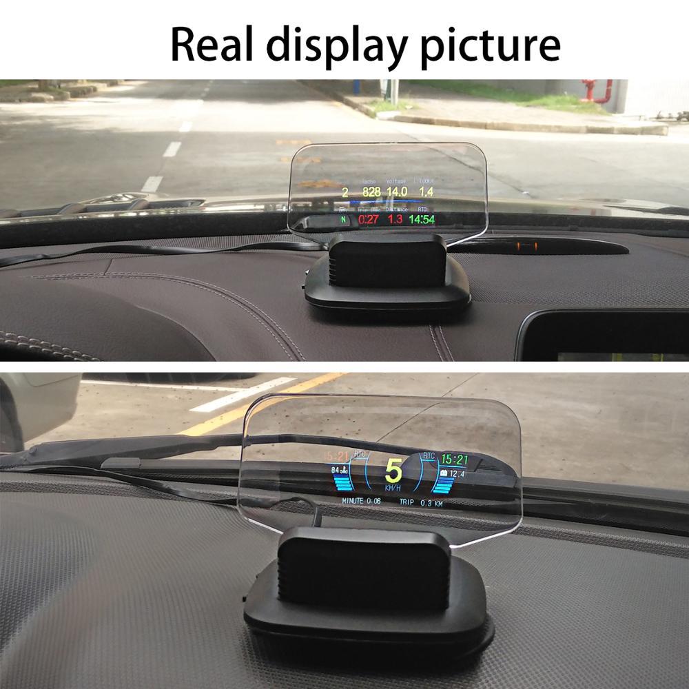 Новейший дисплей OBD Автомобильная электроника HUD Дисплей автомобильные спидометры Предупреждение 1 предупреждение о превышении скорости ... - 5