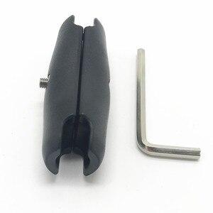 Image 3 - Vida anahtarı tipi 6.5 veya 9.5cm çift soket kolu 1 inç top tabanları için Gopro Garmin GPS için