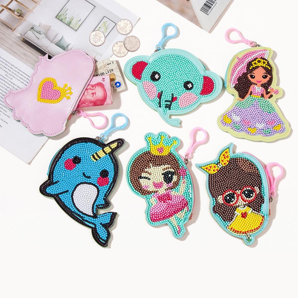 Diamond sticker Bag Handicraft toys Sticker toys DIY Children's cartoon handwork Cute animals,Princesses,Girls' toys,Gift