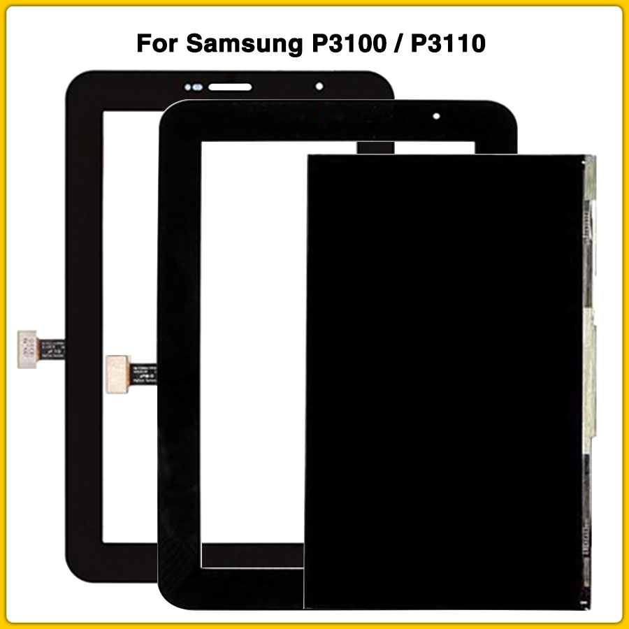 New P3100 LCD Touch Panel For Samsung Galaxy Tab 2 7.0 P3100 P3110 LCD Display Touch Screen Panel Digitizer Sensor