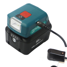 Adpator usb do carregador de bateria do li íon com luz de trabalho dc10wd multifunções para makita bl1015 bl1040b bl1015 bl1016 bl1021b bl1040b