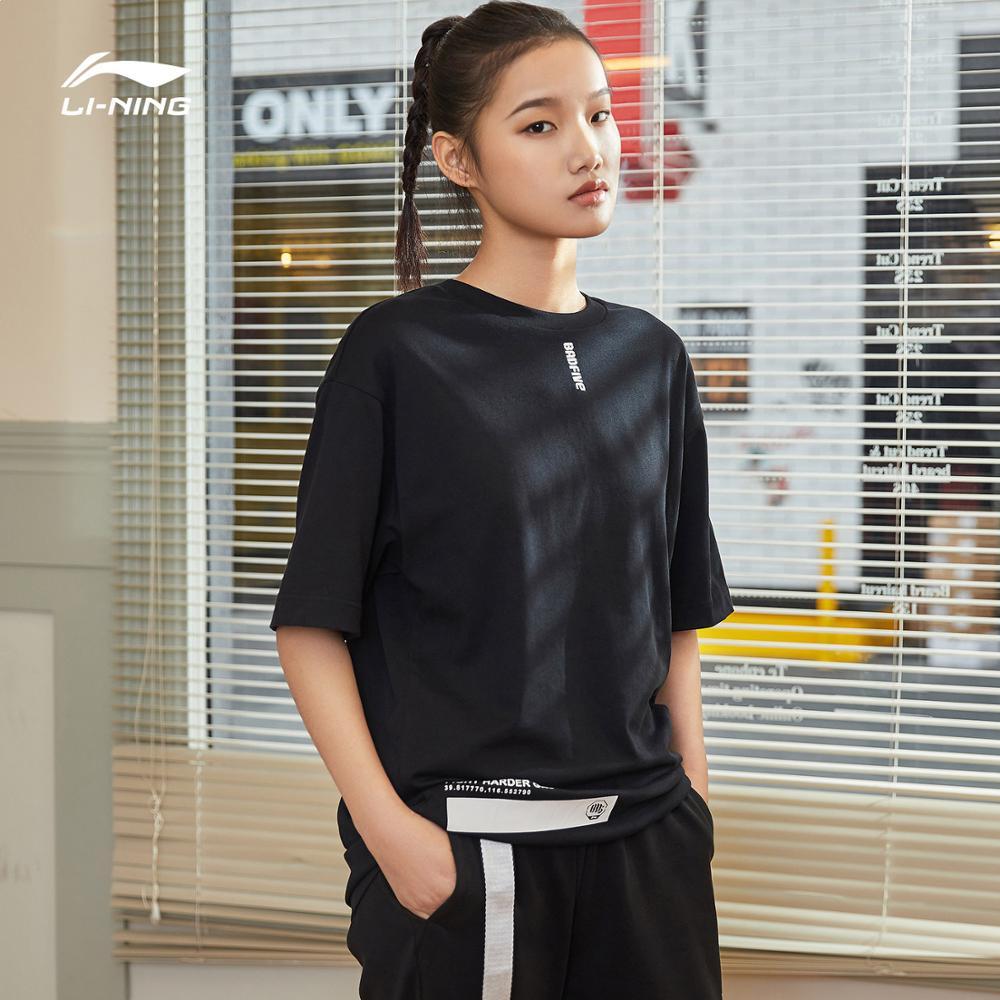 Li Ning, Женская баскетбольная серия BAD FIVE, Джерси, 100% хлопок, дышащие футболки, свободный крой, подкладка, Спортивная футболка AHSP074 CAMJ19|Баскетбольные майки|   | АлиЭкспресс