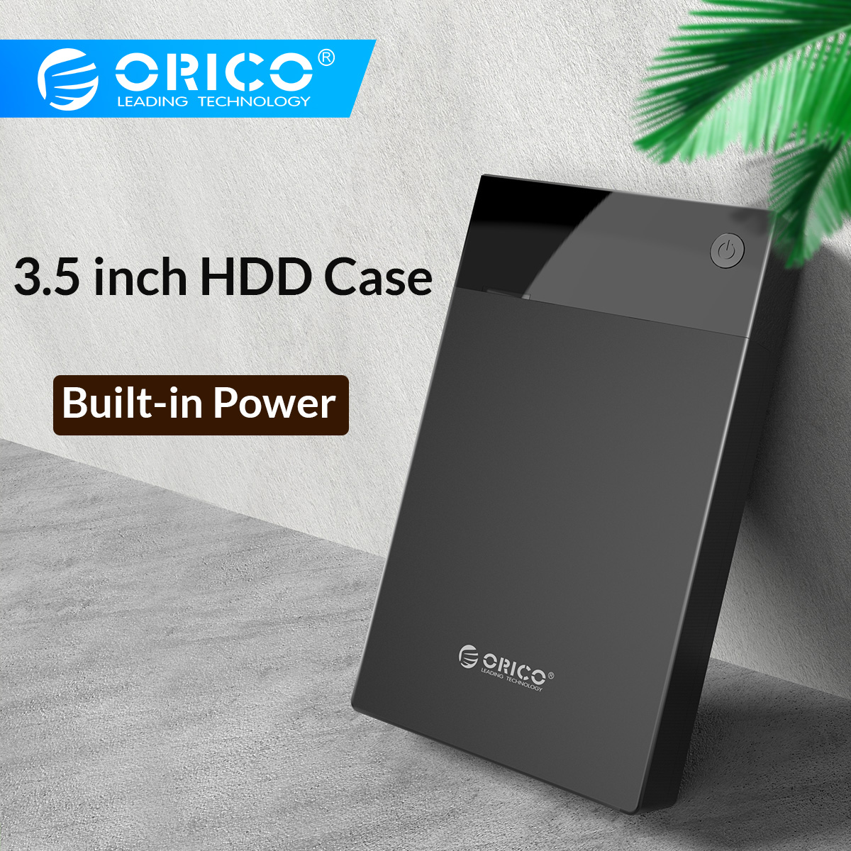 ORICO 3.5Inch HDD Case Bulit-in Power 12V Portable SATA toUSB 3.0 Hard Enclosure