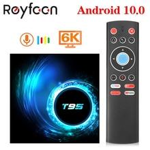 أندرويد 10.0 صندوق التلفزيون T95 4G 64GB Allwinner H616 رباعية النواة 6K H.265 USB2.0 2.4GHz واي فاي دعم مشغل جوجل يوتيوب مشغل الوسائط