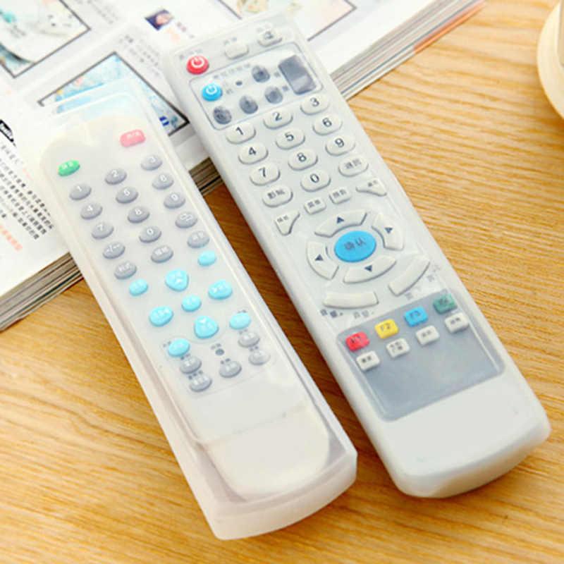 1 pc シリコーンテレビのリモコンケースカバー家庭用エアコンアンチダスト防水保護収納袋蛍光クリアカバー