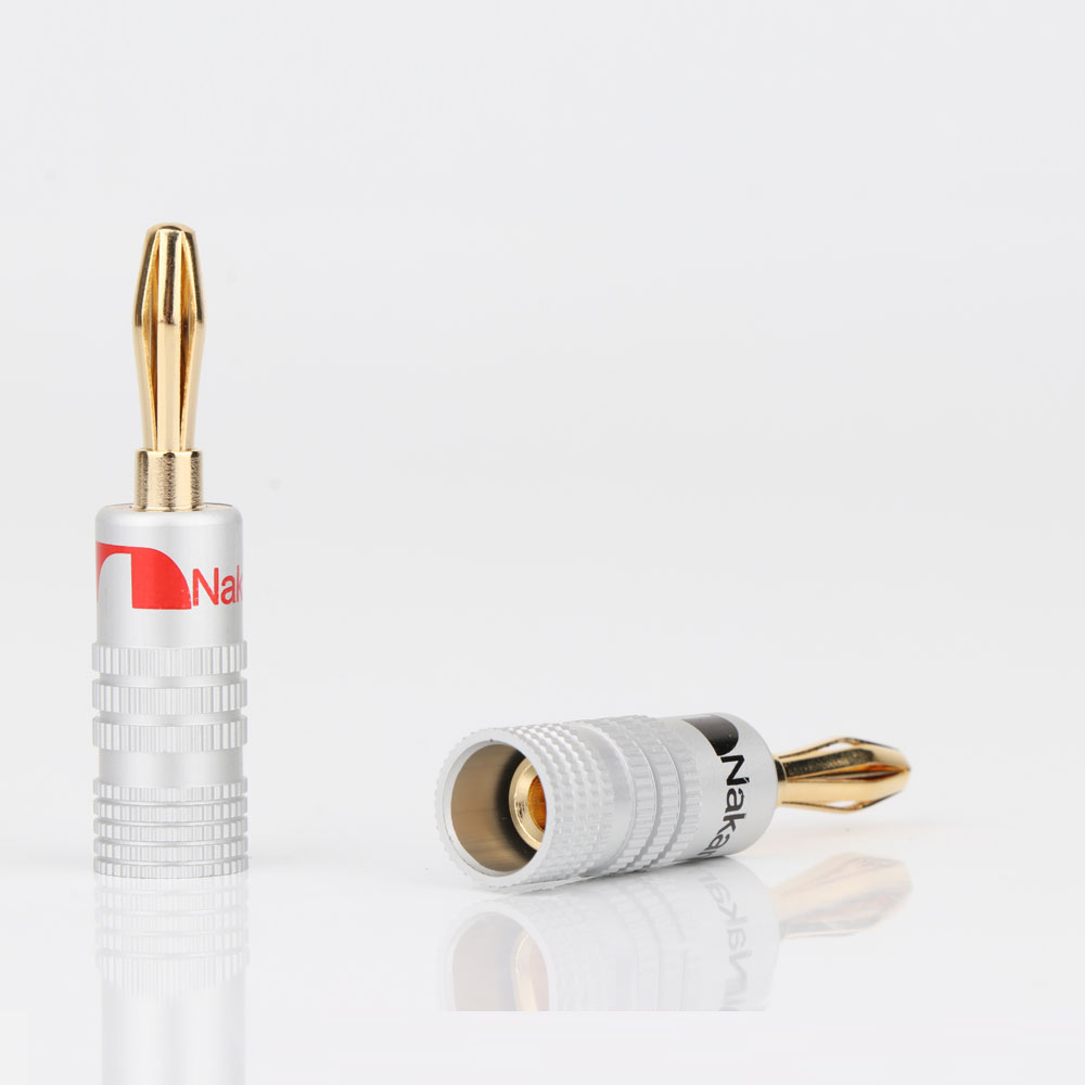 cheapest BA1427 Nakamiche Banana Connectors Excellent 24K Gold Nakamichi Speaker Banana Plugs For Audio Video Speaker Connector plug