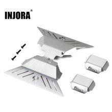 INJORA – plaque de protection d'essieu en acier inoxydable, pour RC Crawler Axial capri 1.9 UTB AXI03004, pièces de mise à niveau