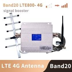 الفرقة 20 4G مكبر للصوت 800 MHZ FDD أوروبا الهاتف المحمول إشارة الداعم هاتف محمول مكبر للصوت 4g lte 800mhz مكرر مجموعة b20