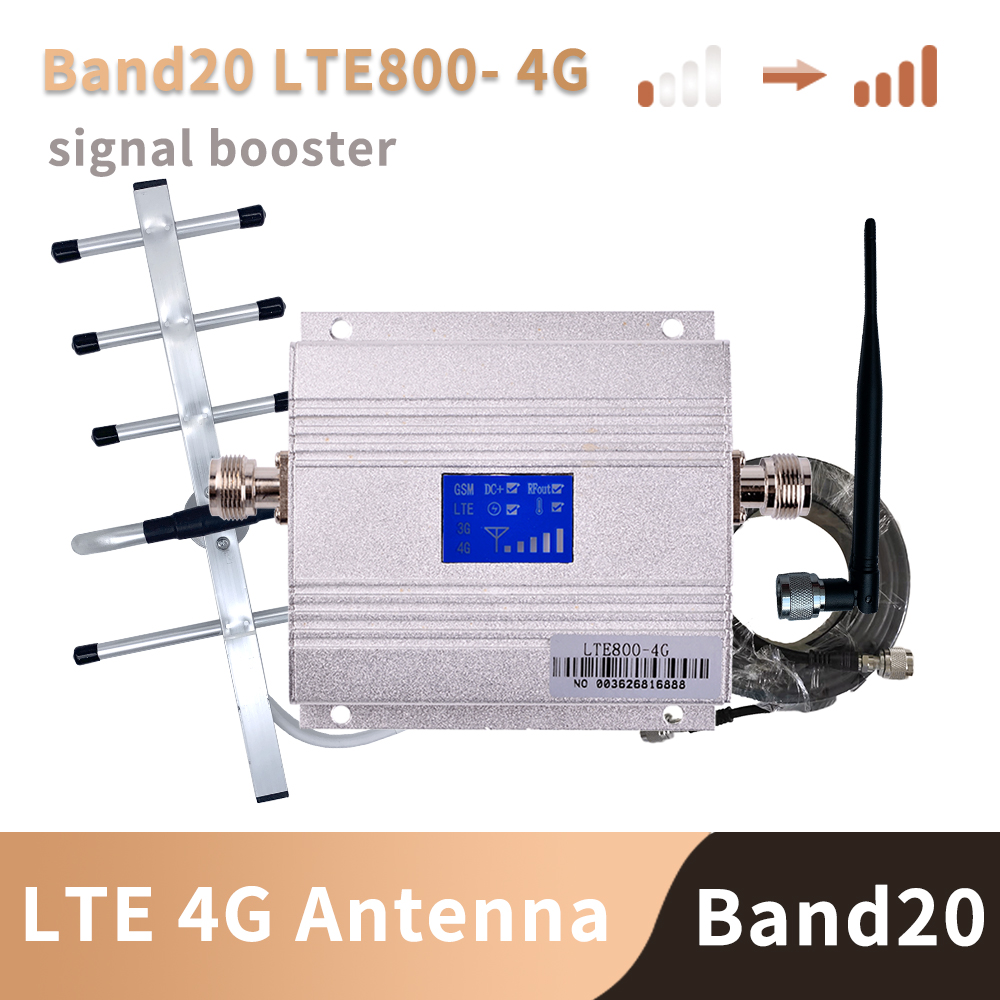 Band 20 4G Amplifier 800 MHZ FDD Europe Mobile Phone Signal Booster Cell Phone Amplifier 4g Lte 800mhz Repeater Set B20
