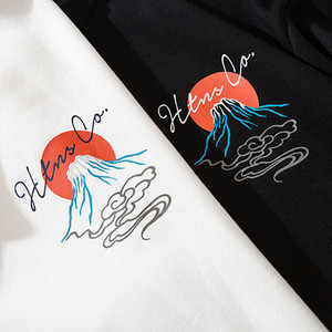 Image 5 - Mens Hip Hop Hoodie เสื้อกันหนาว Streetwear Harajuku ญี่ปุ่น Volcano ปลาวาฬพิมพ์ Hoodies Pullover ฝ้ายเหงื่อเสื้อ 2019 ฤดูใบไม้ร่วง