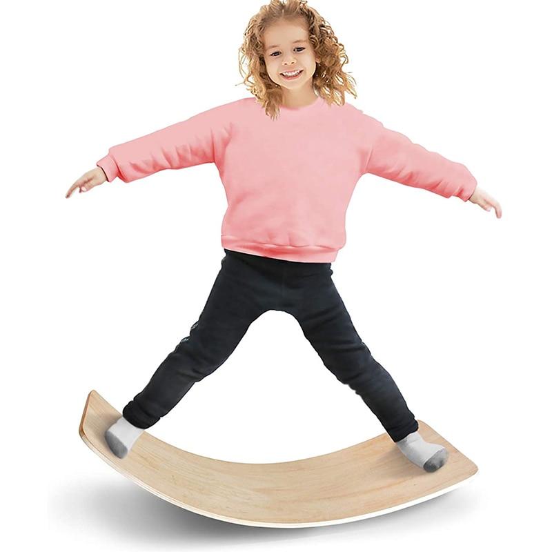 Деревянная доска для балансировки детям качели колебание доска для йоги и фитнеса балансировочная доска игрушки для водного спорта мост ст...