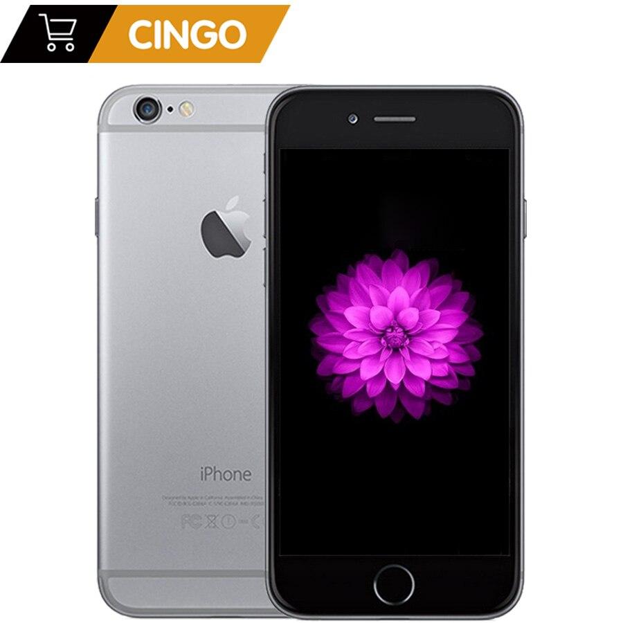 Desbloqueado apple iphone 6 1 gb ram 4.7 polegada ios duplo núcleo 1.4 ghz 16/64/128 gb rom 8.0 mp câmera 3g wcdma 4g lte usado telefone móvel