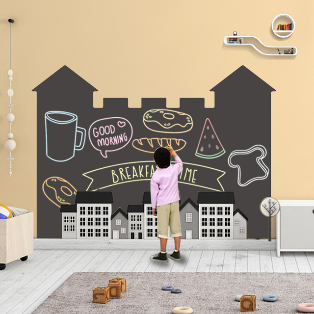 120x85CM Self Adhesive Blackboard Vinyl Draw Decor Mural ChalkBoard Decoration Drawing Stickers Blackboard Stickers Toy for