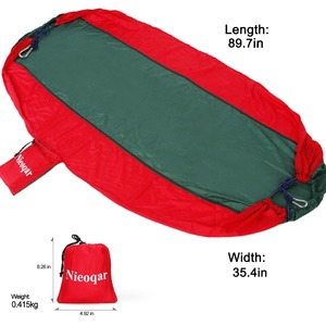 Image 2 - ultralight 1 2 person hammocks outdoor camping traveling hiking sleeping bed picnic swing tent single tent  Red, green 230*90CM