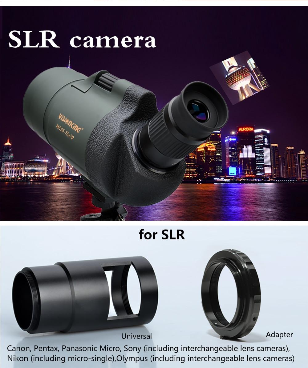 Profissional spotting scope MC25-75x70 zoom telescópio monocular