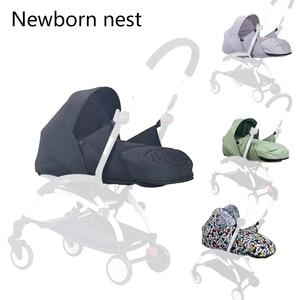 Image 2 - Wózek dziecięcy gniazdo urodzenia noworodek dla Babyzen yoyo + Yoya Babytime wózki koszyk akcesoria do wózka dziecinnego śpiwór zimowy