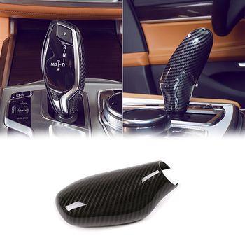 Estilo de coche automática de la velocidad de cambio de engranaje de mando cubierta de la cabeza pegatinas para BMW X3 X4 G01 G02/5/6 /7 Serie G11 G12 GT G30 G31