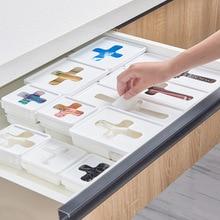 Коробка для хранения Штабелируемый ящик классификация крест Видимый ящик для хранения Высокое качество для домашнего хранения бумажный мешок для мусора маленький предмет