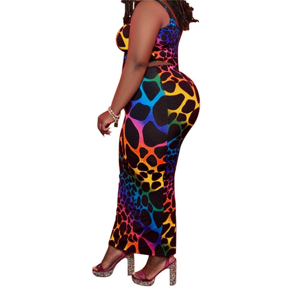 Plus Size Women Clothing Two Piece Set  3