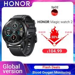 Глобальная версия Honor Magic Watch 2 Смарт-часы Bluetooth5.1 Смарт-часы водонепроницаемые 14 дней спортивные часы для Android iOS