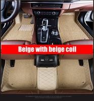 Double Layer Custom Foot Mats 3D Luxury Leather Car Floor Mats for Alfa Romeo Giulia 2017 2018 Car Accessories Floor Mat