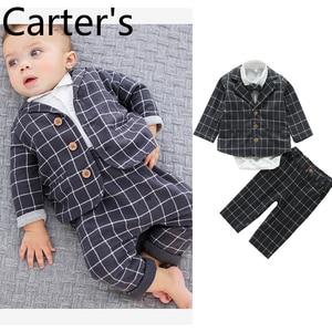 Carter's 3 pcs Ubranka Dla Niemowlat Roupa Infantil Menino Erkek Bebek Giyim Children's suit jacket British Baby Set Newborn