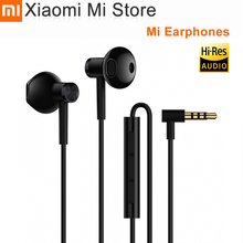 Xiaomi Mi Earphones Dual Units Half 3.5MM Wire Control In Ear Earphones for Mi A1 Redmi 5 Plus Smartphone for samsung s10