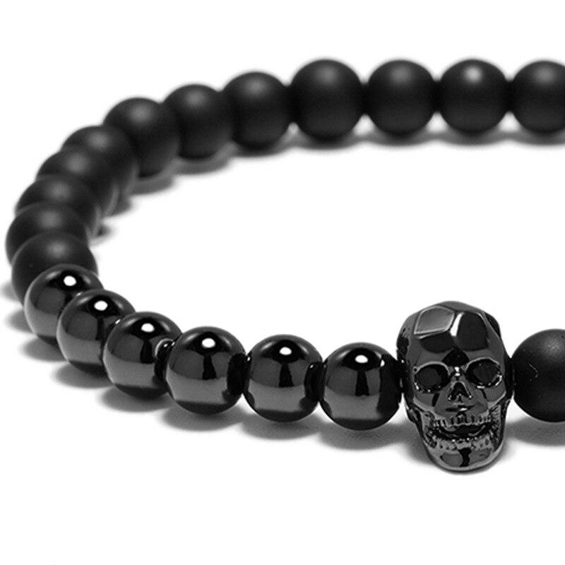 Bracelet perles tête de mort viking 5