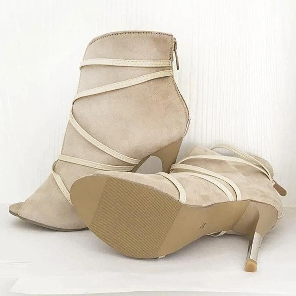 2020 Women's High Heel Sandals Ladies Shoes Sexy Open Toe Ankle Boots Autumn Shoes Wedding Parrty Women Sandals Office Pumps