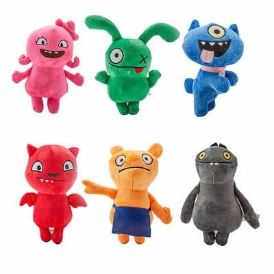 Cartoon Anime Uglydoll Plush Toy 1/6pcs Ox Moxy Babo Plush Toy 15-18cm Uglydog Soft Stuffed Plush Doll Toy For Kid Birthday Gift