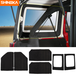 SHINEKA Heat Insulation Cotton Pad Car Headliner Roof and Rear Window Insulation Kit 4 Doors For Jeep Wrangler JK 2007-2010