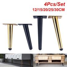 Купить с кэшбэком 4Pcs/Set Furniture Table Legs Metal Tapered Sofa Cupboard Cabinet Furniture Leg Feet 12/15/20/25/30CM Stool Chair Leg Feet