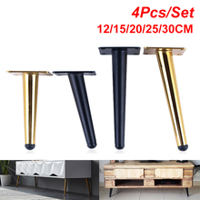 4 unids/set patas de la Mesa de mueble sofá de Metal cónico armario muebles patas de patas 12/15/20/25/30CM taburete silla pies de pierna