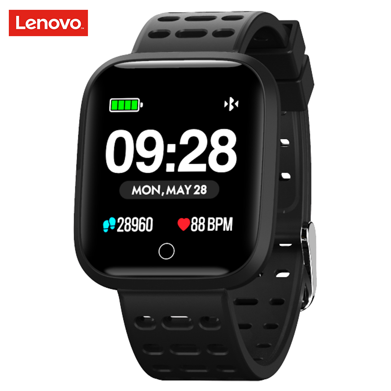 Lenovo Watch E1 Smartwatch 5ATM WaterProof Bluetooth Sport Heart Rate Tracker Call/Message Reminder Smart watch for Android iOS image