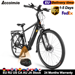 Hot Torque Electric Bike 28 Inch City Commuter Electric Bicycle Road E-Bike 140KM 250W Bafang M200 G210 Motor Mens Women's Ebike