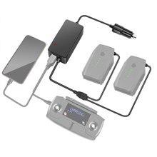 Chargeur de voiture rapide 2 en 1 pour DJI Mavic Pro Platinum Drone batterie adaptateur de charge de voiture Transport de voyage chargeur de véhicule en plein air