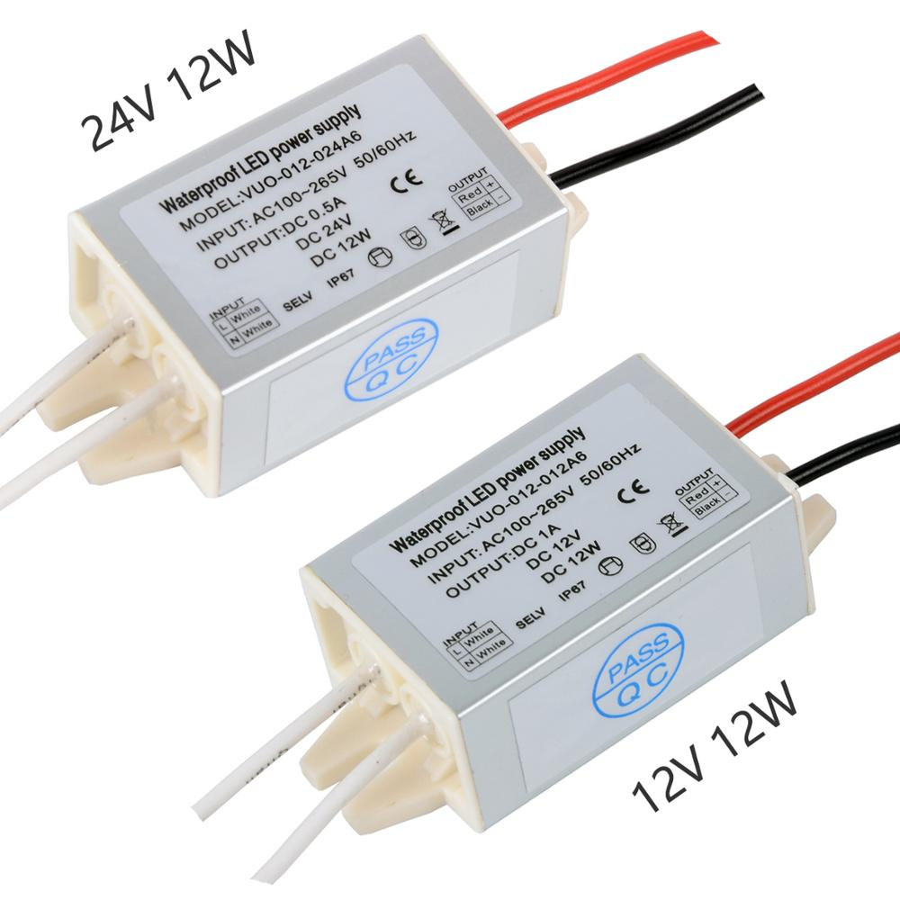 Outdoor Light AHSELLUS 12V DC Transformer Power Supply Driver IP67 Waterproof Transformer 60W 100V-265V AC Input with 3-Prong Plug 3.3 Feet Cable for LED Lights Computer Project